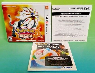 Pokemon Sun - Nintendo 3DS Case, Cover Art, Manual ONLY *NO GAME*