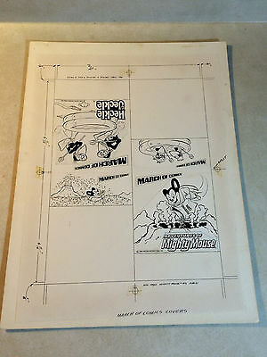 MIGHTY MOUSE - HECKLE AND JECKLE march of comics COVER ART #471,472 LARGE