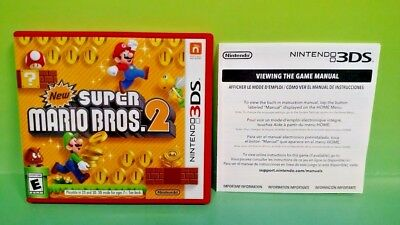 New Super Mario Bros. 2  - Nintendo 3DS Case, Cover Art, Manual ONLY *NO GAME*