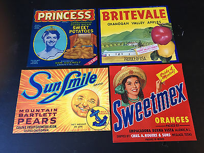 Lot of 15 Vintage & Original Crate Labels - NOS
