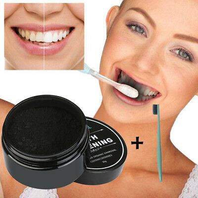 Hot Teeth Whitening Powder Natural Organic Activated Charcoal Bamboo Toothpaste