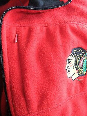 GIII Women's Chicago Blackhawks Full Zip Red Fleece Jacket Coat (L)