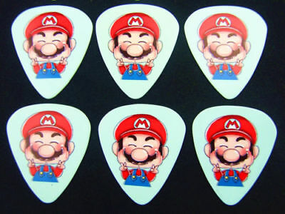 Mario Guitar Picks Lot of 10 .71 mm Free Tracking New