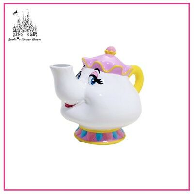 Disney Beauty And The Beast Mrs Potts Ceramic Coin Money Box Brand New In Box