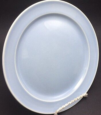 "Taylor Smith & Taylor Lu-Ray Pastels LUNCHEON PLATE Light Blue 9 1/4"" USA"