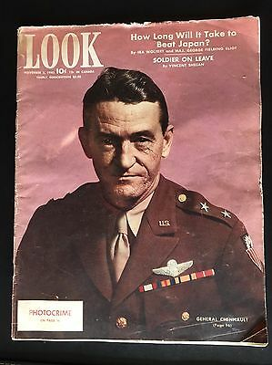 Nov 1943 Look Magazine On General Chennault In China,flying Tiger 飞虎空军陈纳德将军在中国