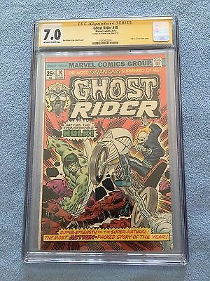 Ghost Rider #10 (Feb 1975, Marvel) CGC SS 7.0 Signed by Wilson WHITE PAGES