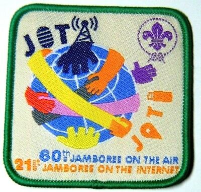 2017 JOTA JOTI World Scout Badge, Scouts Jamboree on the Air & Internet, NEW
