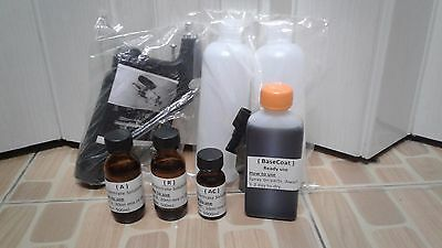 Hobby set spray on Chrome Size 30ml A&R&AC Concentrate Solution & Basecoat 100ml