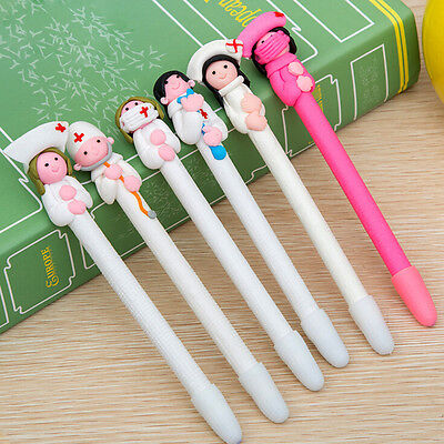 10 PCS Nurse Style Polymer Clay Ball Point Pens Nursing Pen Nurse Day Xmas Gifts