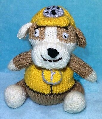 KNITTING PATTERN - Rubble inspired choc orange cover / 16 cms Paw Patrol toy