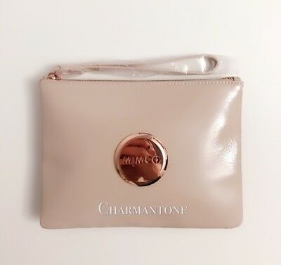 Free shipping Mimco Classic Medium Pouch Pancake Patent leather n Rose Gold