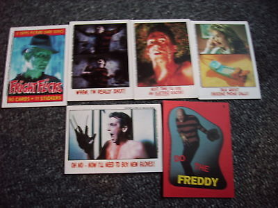 Freddy Krüger-5 Tradingcards + 1 Sticker-USA