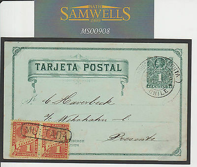 MS908 1895 CHILE Local Stationery Card POSTAGE DUES Exhibition Quality