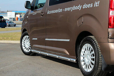 Toyota Proace 2016- L1 Protection, Barre Laterale Led Inox, Diam 60Mm, Homologue