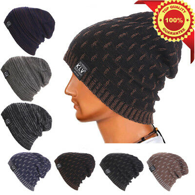 210f68c1453 Knit Men s Women s Baggy Beanie Oversize Winter Hat Ski Slouchy Chic Cap  Skull