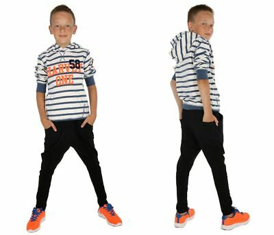 Jungen Thermo Hose Baggy Skate Chino Warm Winter Herbst 116-158 hk303b