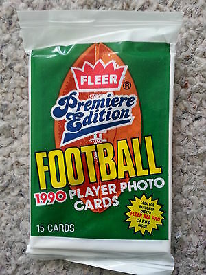 1990 NFL Fleer Premiere Edition trading cards unopened pack Rare Gridiron Rare