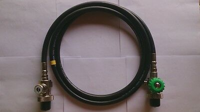 AP Diving Gas Decanting Loop for Air/Oxygen with DIN or Bull Nose and Gauge