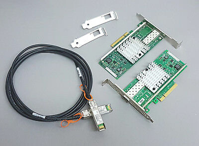 10G Netzwerk Kit 2x Intel X520-DA1 10 Gigabit NIC GBe SFP+ 3m SFP+ Kabel Cisco
