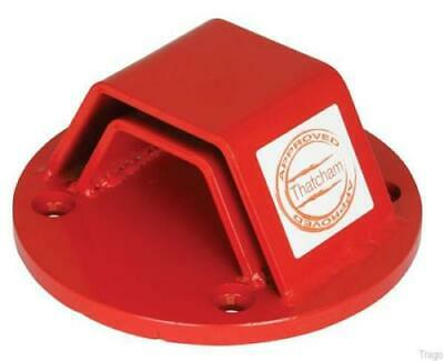 Thatcham Approved Mammoth Heavy Duty Red Ground Anchor Motorbike Scooter Moped
