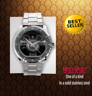 New Edition Steering Wheel Audi S3 S6 S8 SQ5 RS5 RS7 Unisex Sport Metal Watch