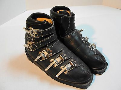 Vintage RIEKER Sealed Sole Ski Boots Germany, Size 8.5 Extra Narrow 5-Buckle