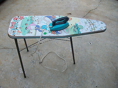 Vintage 1960's Wolverine Little Bo Peep Litho Tin Girls Toy Ironing Board & Iron