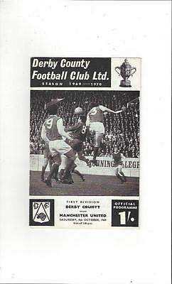 Derby County v Manchester United 1969/70 Football Programme