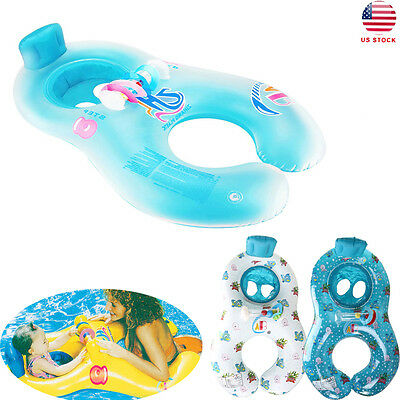 Safe Swimming Ring for Baby Bath Neck Float Mother-child Play Swim ring Summer