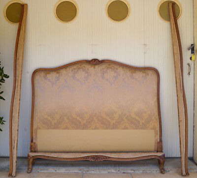 A French Vintage Louis XV Double Bed Frame inc. Reupholstery (exc. Fabric)