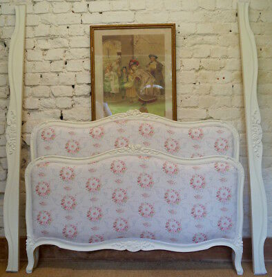 A Vintage French Louis XV Double Bed Frame inc. Reupholstery (exc. Fabric)
