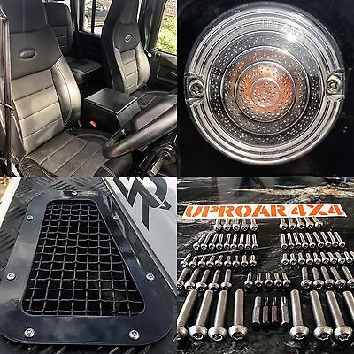 Land Rover Defender Full vehicle security screw & bolt package - Uproar 4x4