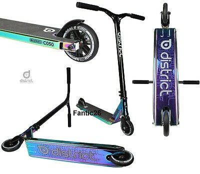 District C050 Stunt-Scooter tret-roller trottinette freestyle rainbow neochrome