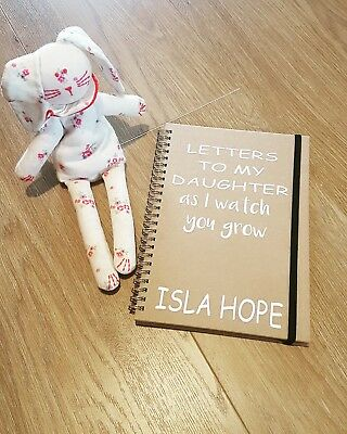 Personalised baby memories notebook