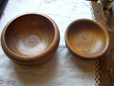 2 Turned Decorative Wooden Bowls