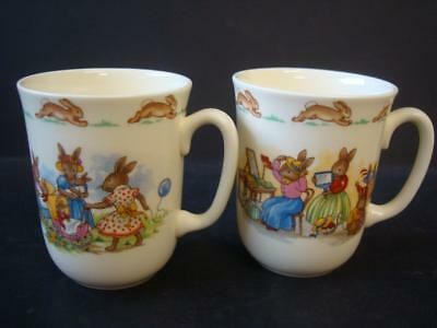 Royal Doulton Bunnykins 2 X Tall Mugs