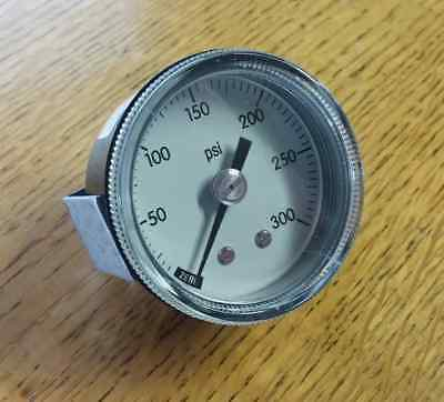 """2"""" Panel Mount U-Clamp Pressure Gauge, 0 to 300 psi NEW!! FREE SHIPPING!! #46C"""
