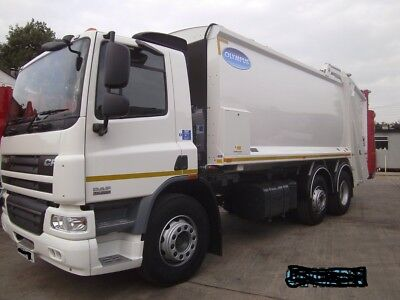 2013 63 6x2 Daf 26 ton RCV Olympus Body and trade binlift owned from new auto