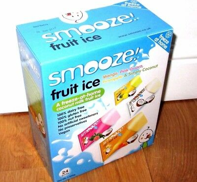 24 x Smooze Freeze At Home Coconut Milk And Tropical Fruit Ice Lollies / Pouches
