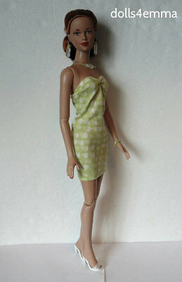 "Peridot DRESS AND JEWELRY for Tonner 16"" Tyler Brenda etc Fashion NO DOLL d4e"