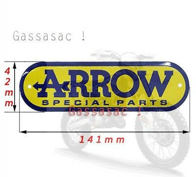 Pegatina Sticker Anticalórica Anti-caloric Arrow special parts moto (42*141mm)