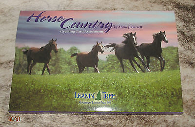 LEANIN TREE Horse Country 20 GREETING CARD ASSORTMENT ~ For Horse Lovers ~
