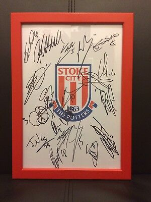 Stoke City X20 NEW 2017/18 Hand Signed Framed A4 Autograph Sheet,Moting,Wimmer
