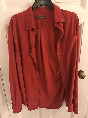 Unisex Red Vintage Cord Shirt