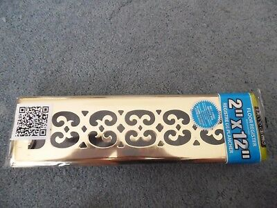 "New Decor Grates SPH212-RB Scroll Plated Register, 2""x12""  #b3"