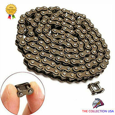 25H GOLD ROLLER CHAIN WITH MASTER LINK FOR 49CC POCKET BIKES GO PEDS SCOOTERS.