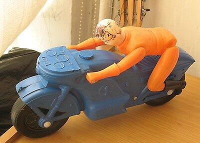 Sport Motor cycle RUSSIAN Boy TOY USSR Child Old Celluloid Plastic Driver Biker