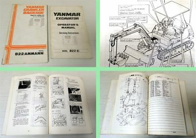 Bedienungsanleitung Yanmar B22 B22P Ersatzteilkatalog instruction manual parts