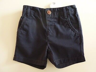 NEXT Gorgeous Little Boys Navy Chino Shorts with Elasticated Waist NWT